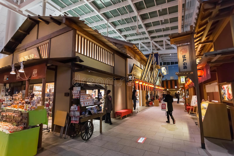 Edo Market Place in Haneda Luchthaven royalty-vrije stock afbeelding