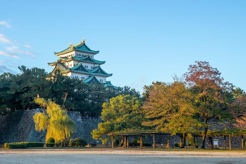 Nagoya Castle, a Japanese castle in Nagoya, Japan. During the Edo period, Nagoya Castle was the heart of one of the most important castle towns in Japan royalty free stock photography