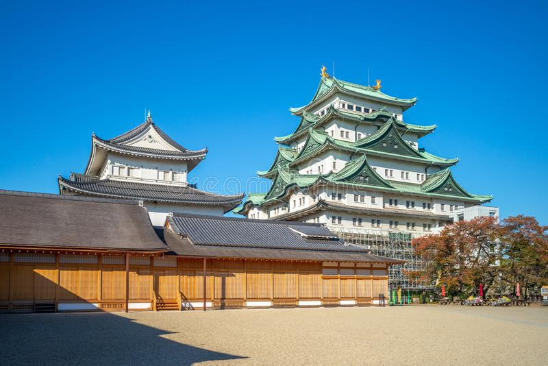 Nagoya Castle, a Japanese castle in Nagoya, Japan. During the Edo period, Nagoya Castle was the heart of one of the most important castle towns in Japan, Nagoya royalty free stock images