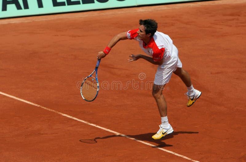 Edouard ROGER-VASSELIN (ATF) chez Roland Garros 2010 photos libres de droits