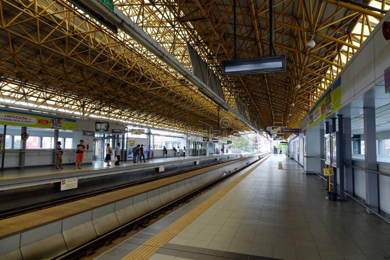 EDSA train station in Manila, Philippines.  royalty free stock photo