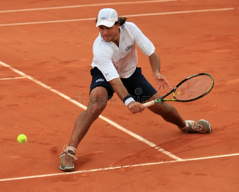 Eduardo Schwank at Roland Garros royalty free stock images