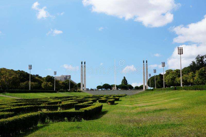 Eduardo VII πάρκο και κήποι στη Λισσαβώνα, Πορτογαλία στοκ εικόνες