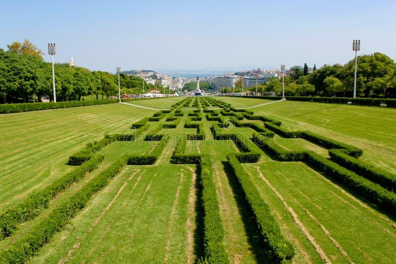 Eduardo VII Park, Lissabon royalty-vrije stock afbeelding
