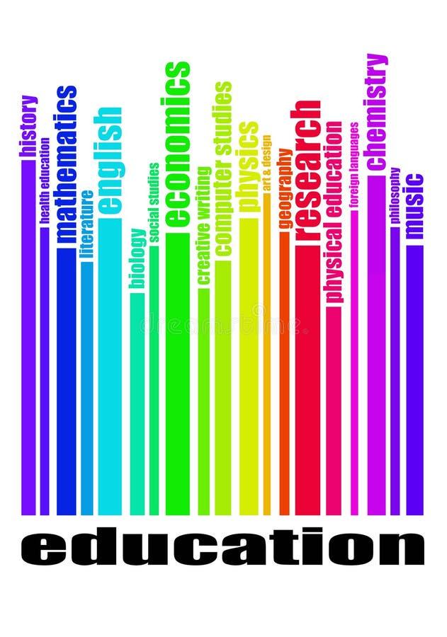 Educação - conceito dos assuntos de escola ilustração royalty free