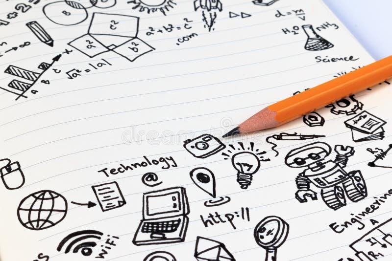 Educação da HASTE Matemática da engenharia da tecnologia da ciência fotografia de stock