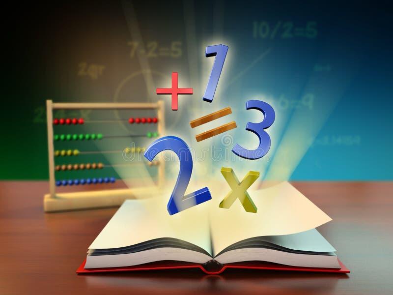 Educação da matemática ilustração do vetor