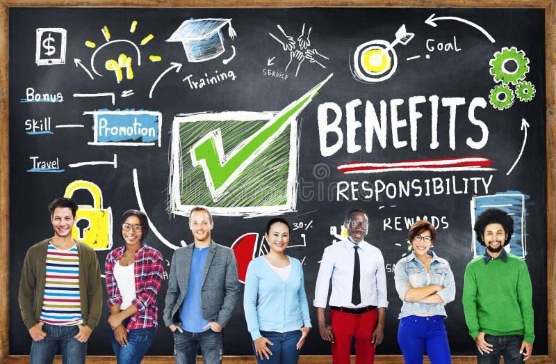 Educação da renda do salário do lucro do ganho dos benefícios que aprende o conceito imagem de stock