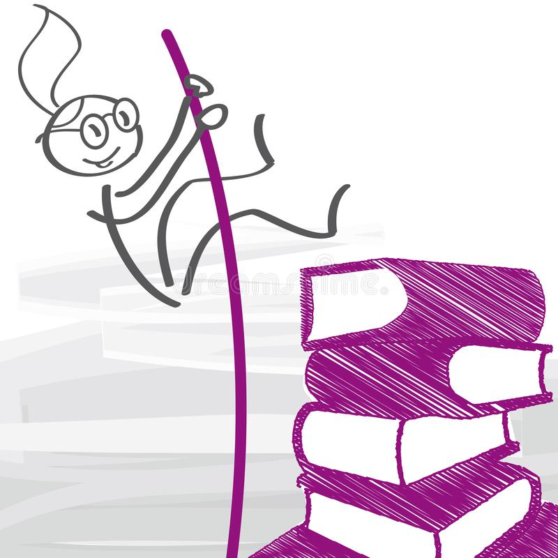 Educação e carreira - ilustração do vetor ilustração royalty free
