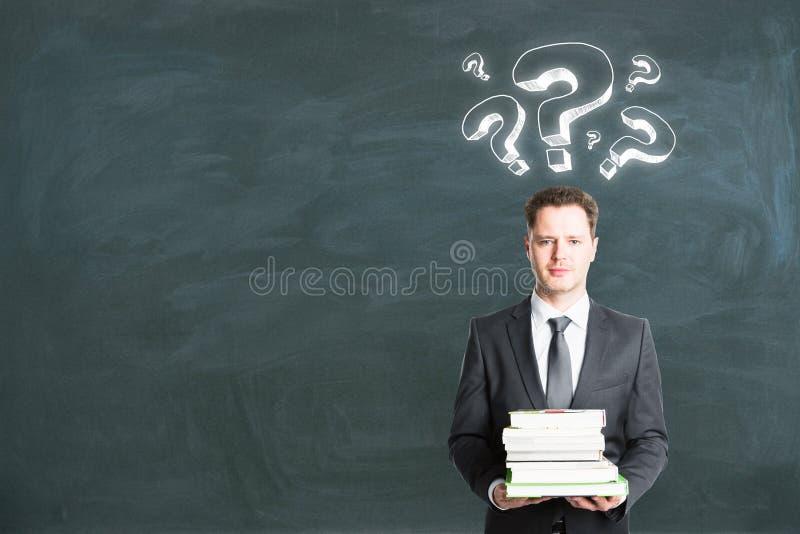 Educação e conceito do FAQ fotografia de stock royalty free