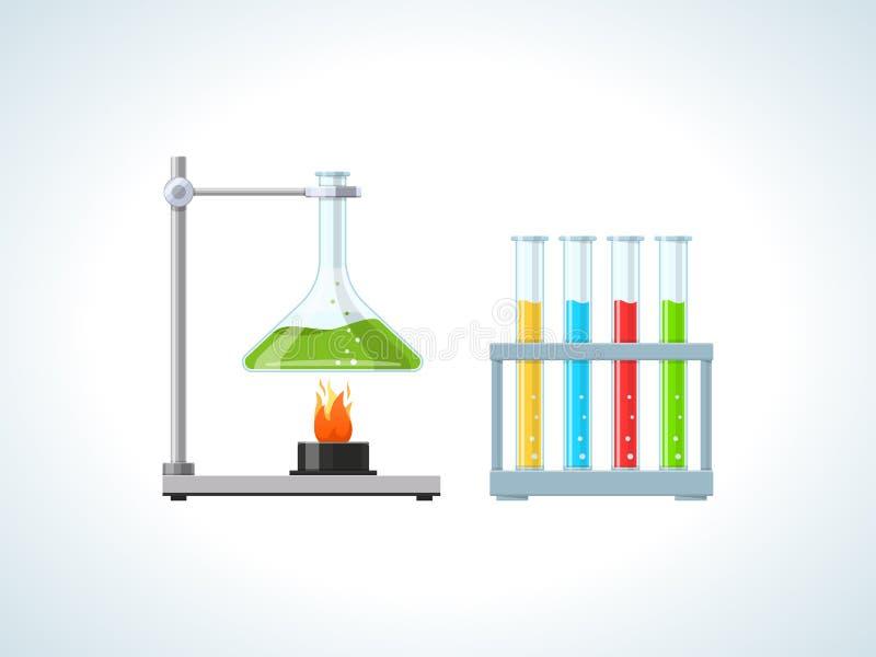 Educação, física, estudos de laboratório, testes, experiências, estudo das leis, regulamentos ilustração do vetor