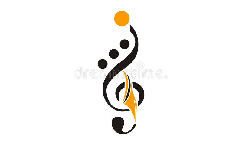 Educação Logo Design Template da música ilustração do vetor