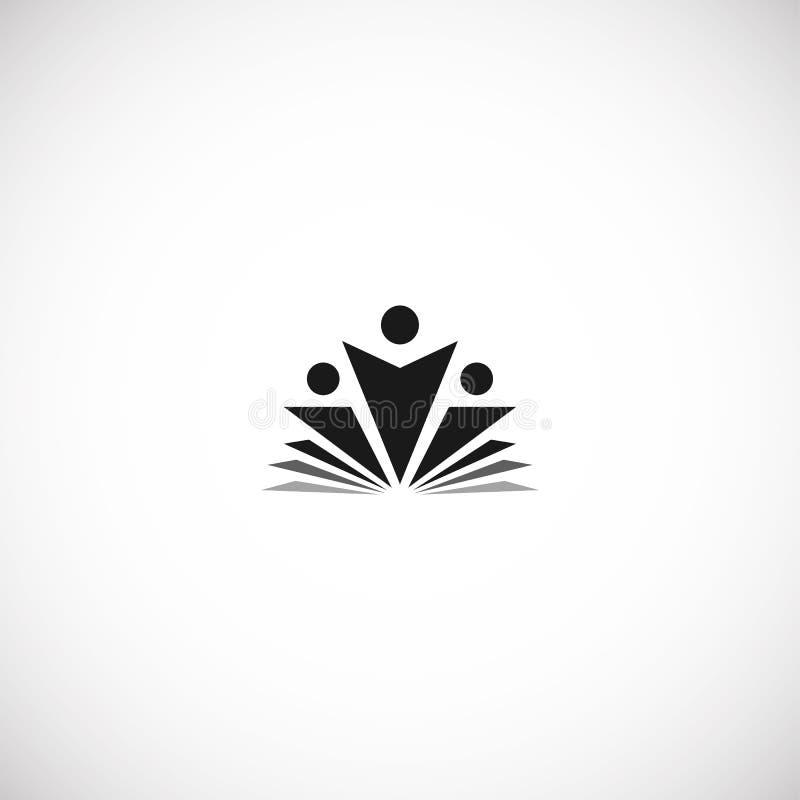 A educação preta abstrata isolada da cor e aprende o livro do logotipo, da universidade e de escola, logotype das silhuetas do se ilustração do vetor