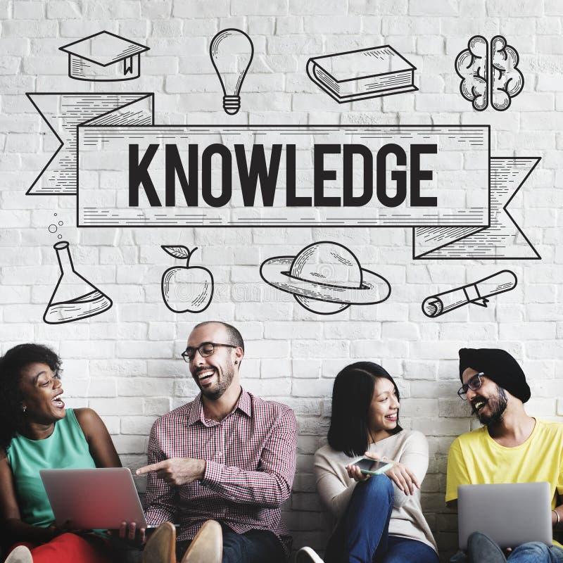 Educação que aprende o conceito do conhecimento do estudo das ideias imagens de stock