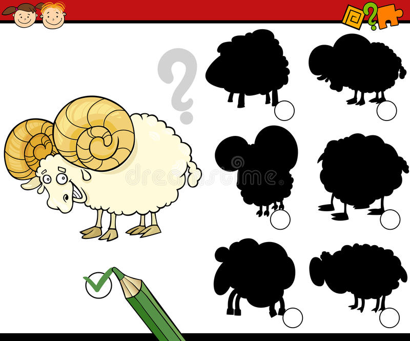 A educação sombreia desenhos animados do jogo ilustração stock