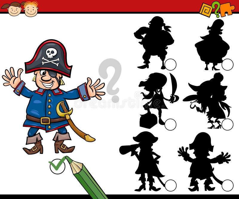 A educação sombreia desenhos animados do jogo ilustração do vetor