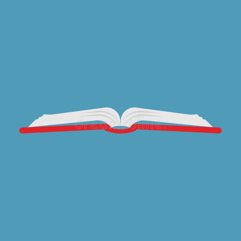 Educación abierta de la lectura de la biblioteca del vector del libro Blanco aislado icono de la literatura libre illustration