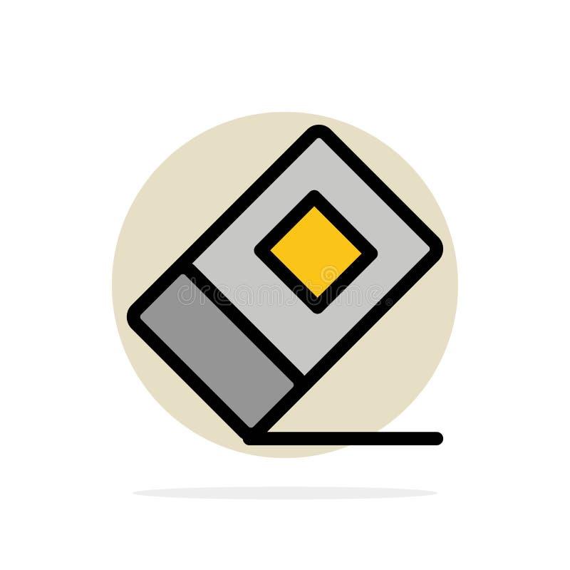 Educación, borrador, icono plano del color de fondo abstracto inmóvil del círculo ilustración del vector