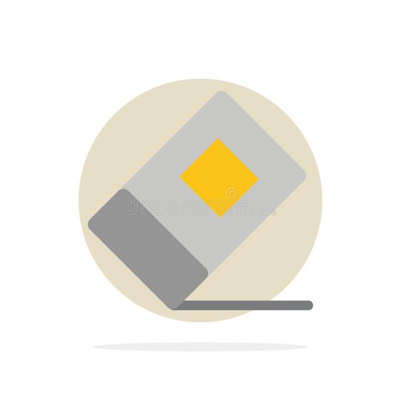 Educación, borrador, icono plano del color de fondo abstracto inmóvil del círculo libre illustration