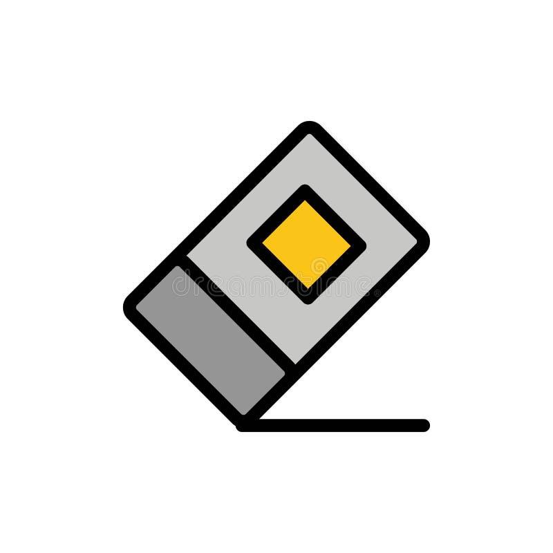 Educación, borrador, icono plano inmóvil del color Plantilla de la bandera del icono del vector ilustración del vector