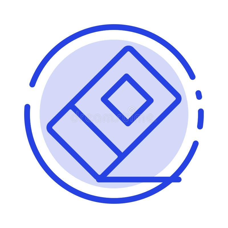Educación, borrador, línea de puntos azul inmóvil línea icono libre illustration