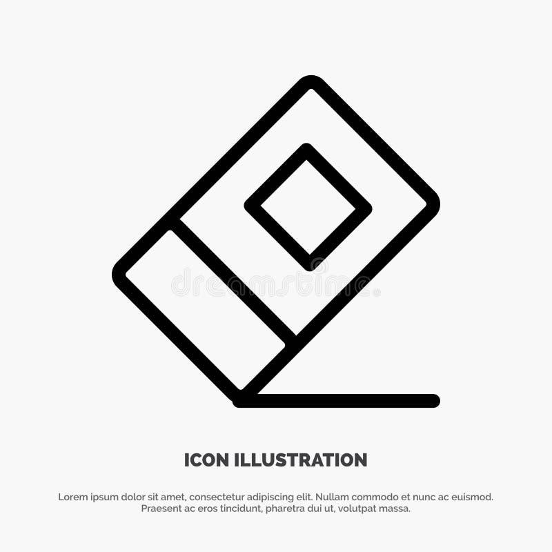 Educación, borrador, línea inmóvil vector del icono stock de ilustración