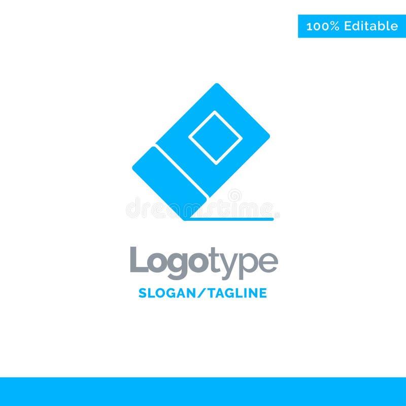 Educación, borrador, Logo Template sólido azul inmóvil Lugar para el Tagline libre illustration