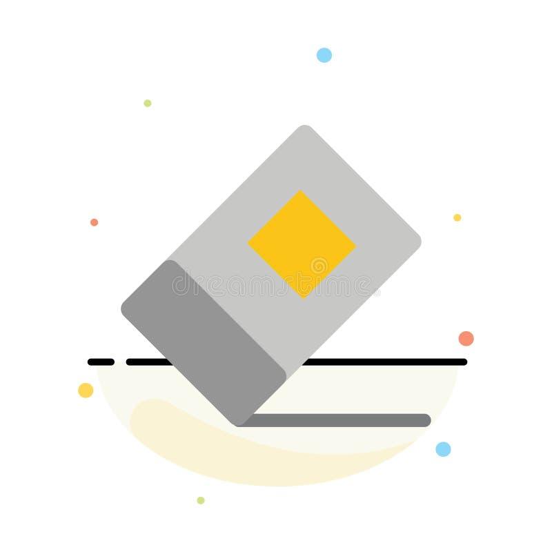 Educación, borrador, plantilla plana abstracta inmóvil del icono del color libre illustration