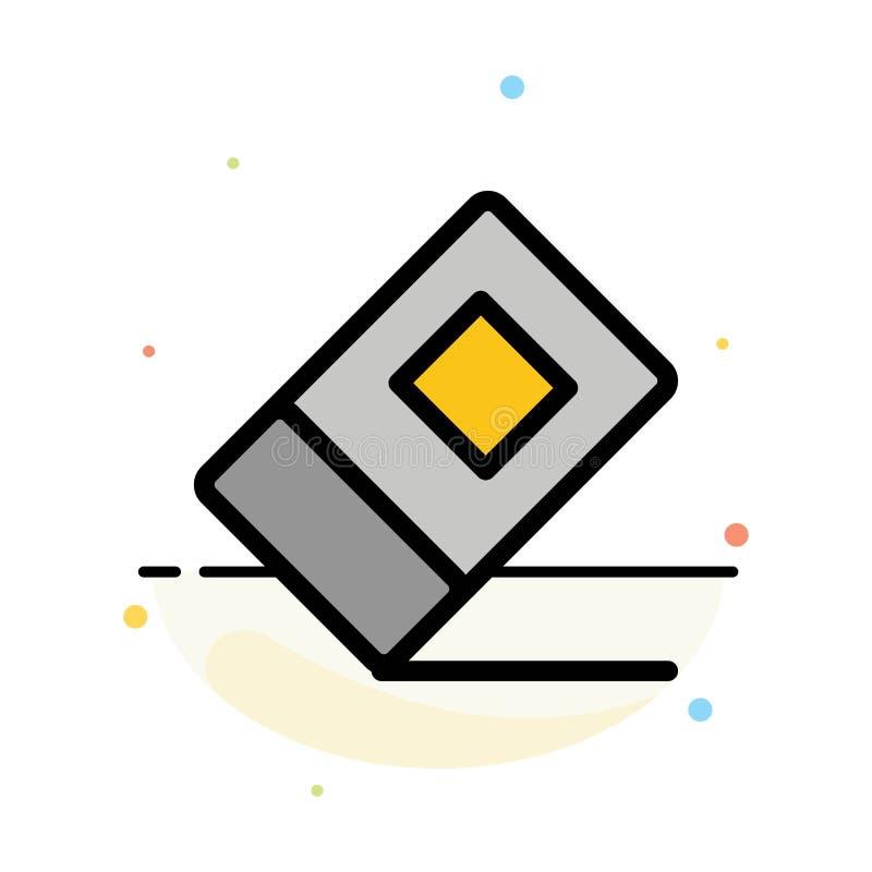 Educación, borrador, plantilla plana abstracta inmóvil del icono del color stock de ilustración