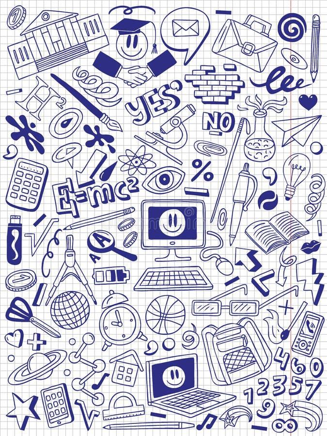 Educación - colección de los garabatos ilustración del vector