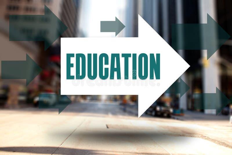 Educación contra la calle de Nueva York stock de ilustración