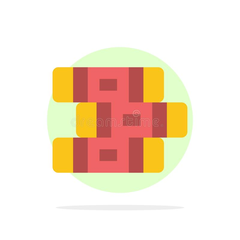 Educación, cuaderno, icono plano del color de fondo abstracto inmóvil del círculo stock de ilustración