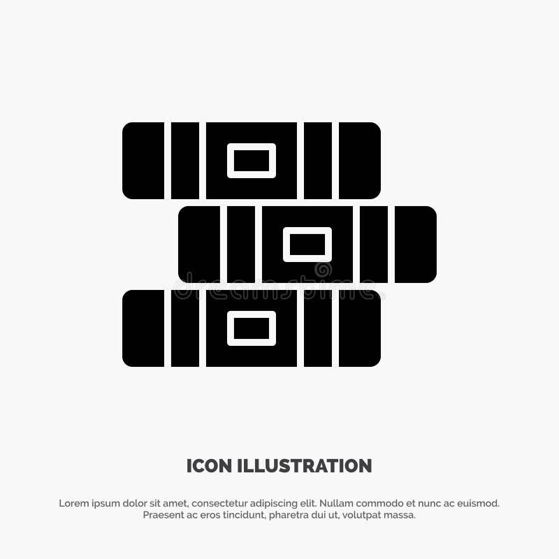 Educación, cuaderno, vector sólido inmóvil del icono del Glyph ilustración del vector