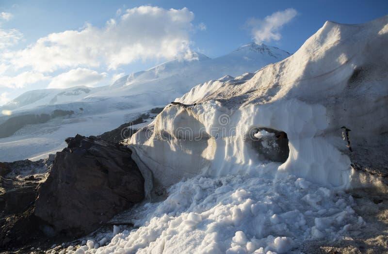Educación de la avalancha de la montaña foto de archivo