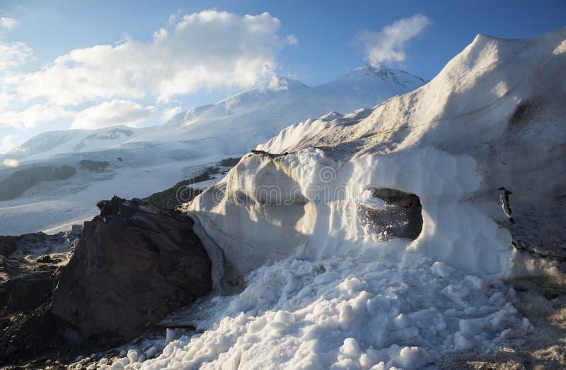 Educación de la avalancha de la montaña imagen de archivo libre de regalías