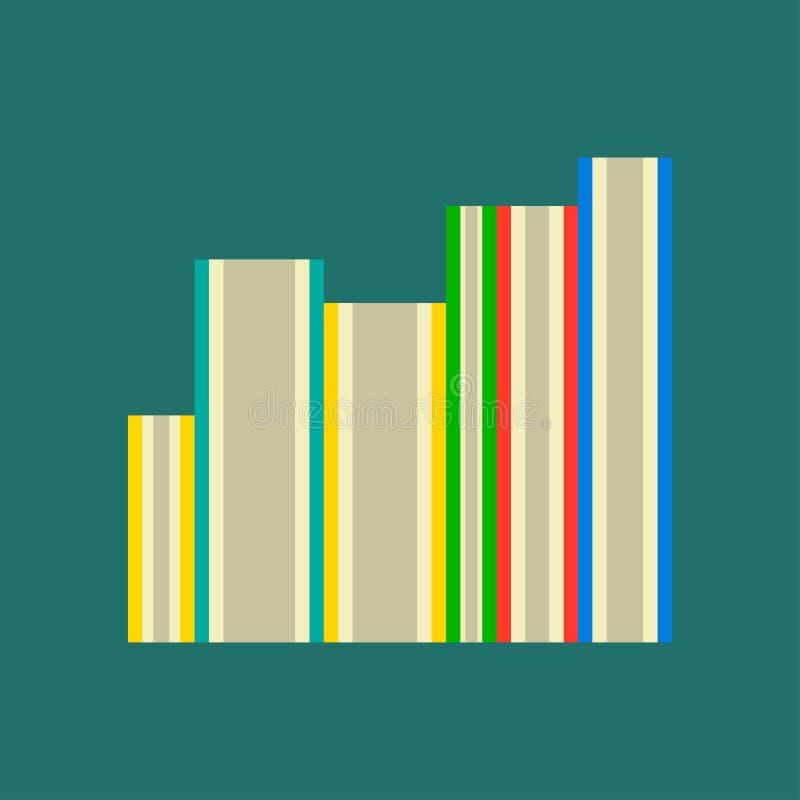Educación de la lectura de la biblioteca del vector del estudio del libro Universidad blanca aislada icono de la vista lateral de ilustración del vector