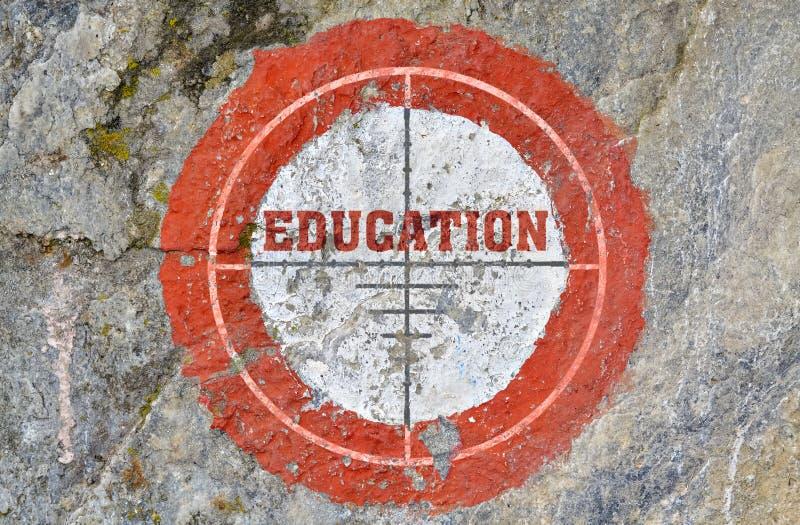 Educación de la sola palabra foto de archivo