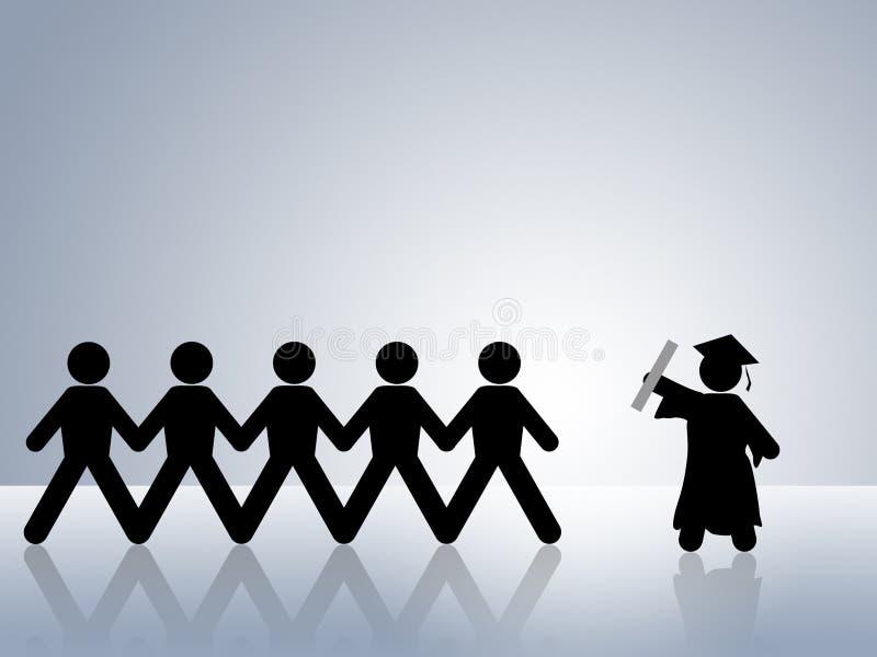 Educación de la universidad o de la universidad de la graduación libre illustration