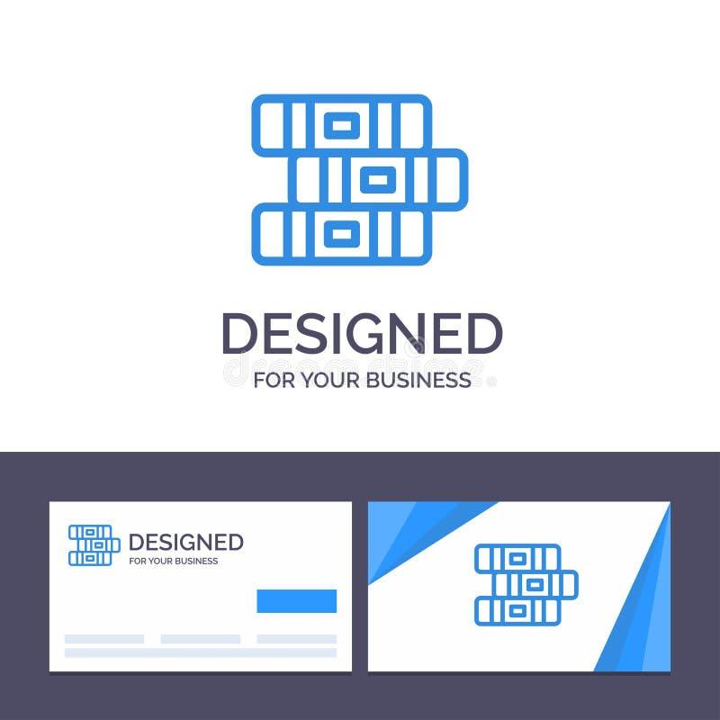 Educación de visita de la plantilla creativa de la tarjeta y del logotipo, cuaderno, ejemplo inmóvil del vector libre illustration