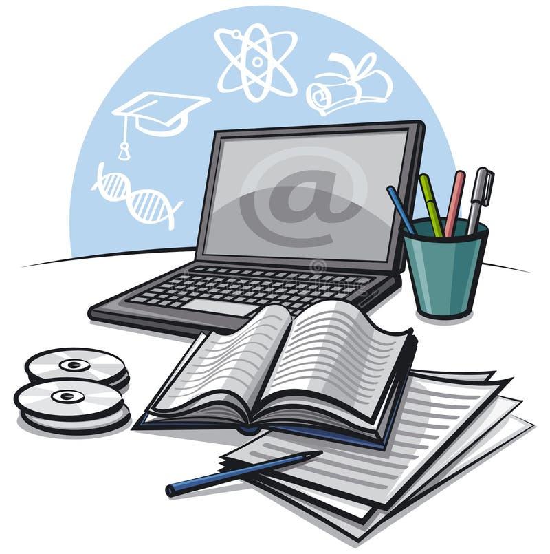 Educación del Internet ilustración del vector