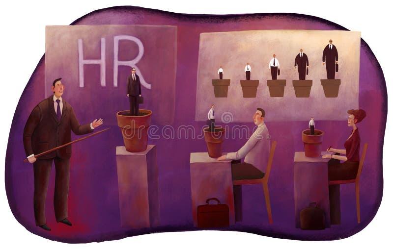 Educación del managers' de la hora libre illustration