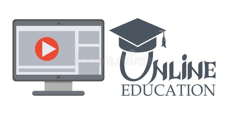 Educación en línea Iconos del concepto para el web y los servicios móviles ilustración del vector