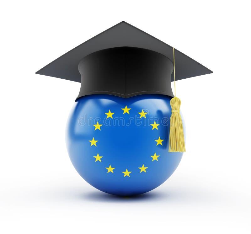 Educación en la unión europea stock de ilustración