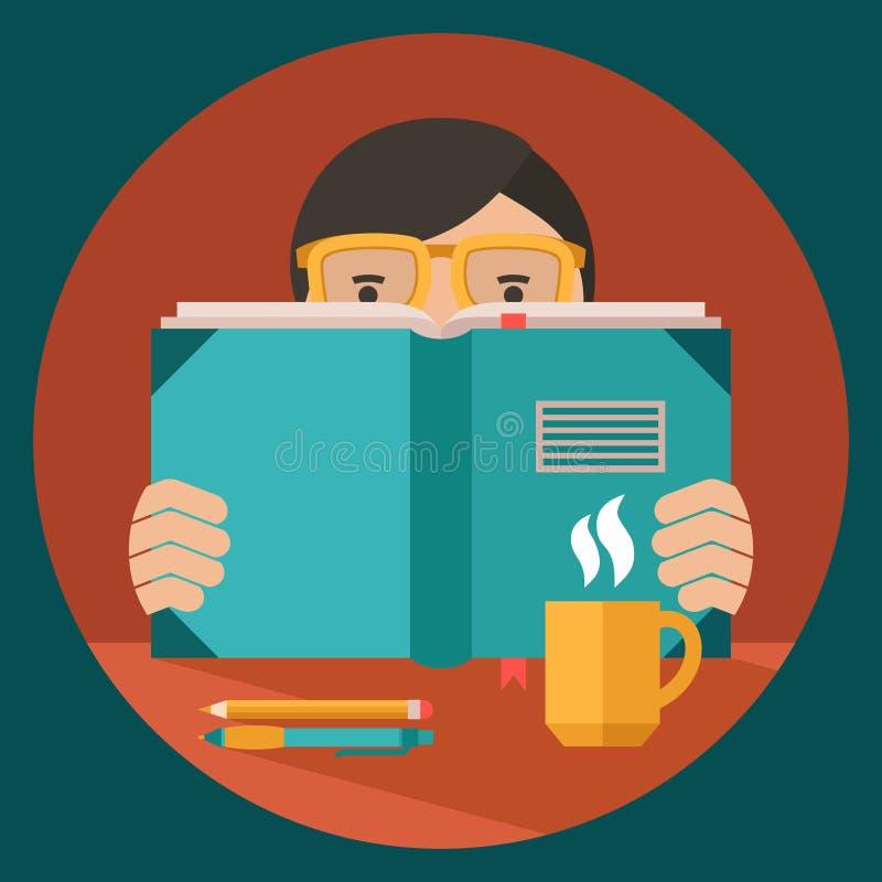 Educación illustration_study ilustración del vector