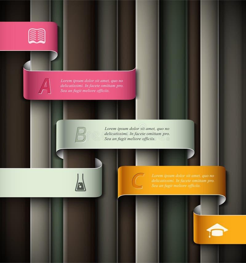 Educación infographic stock de ilustración