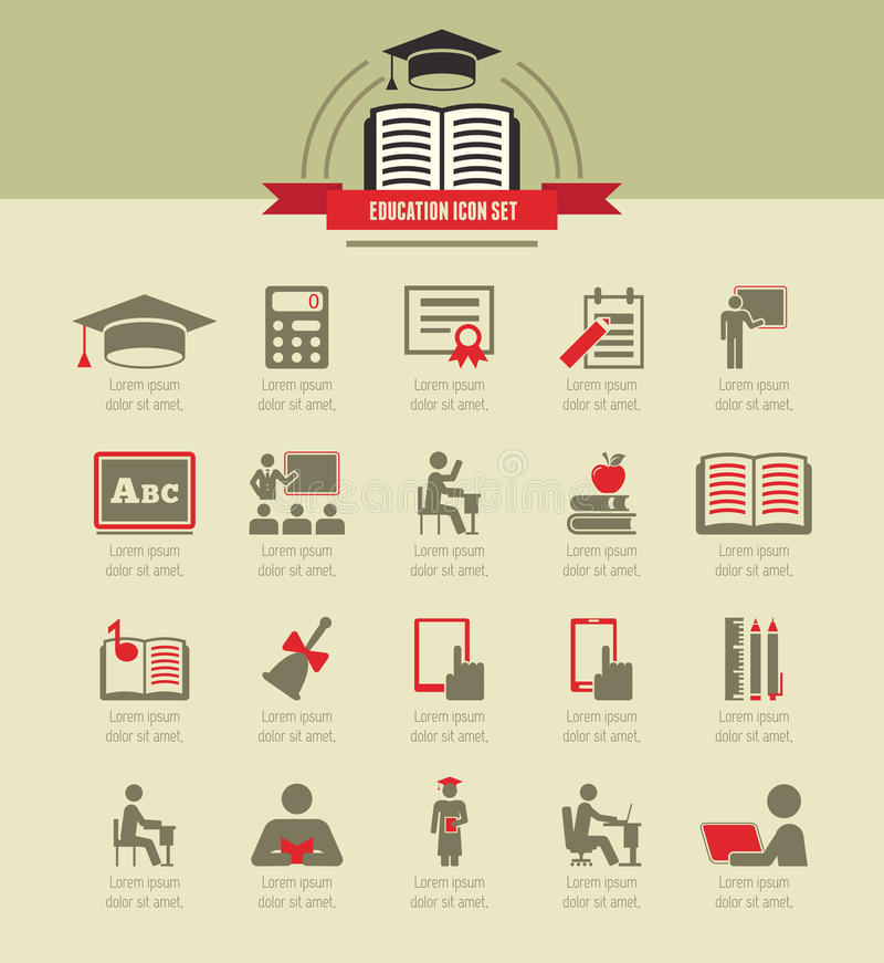 Educación Infographics libre illustration