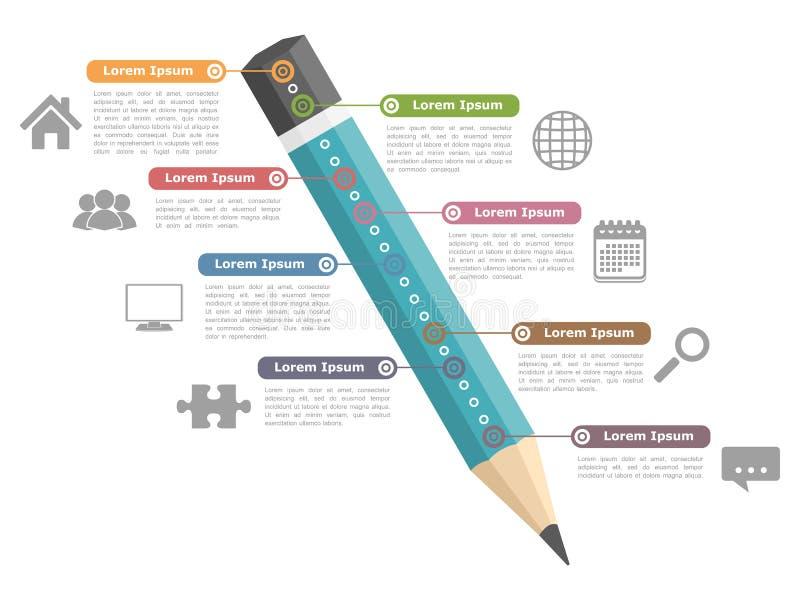 Educación Infographics ilustración del vector