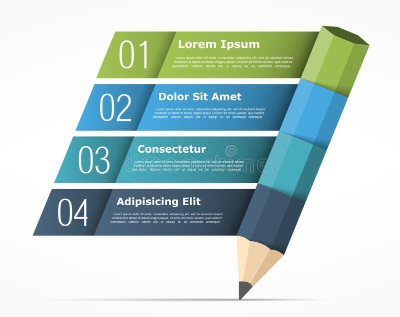 Educación Infographics stock de ilustración