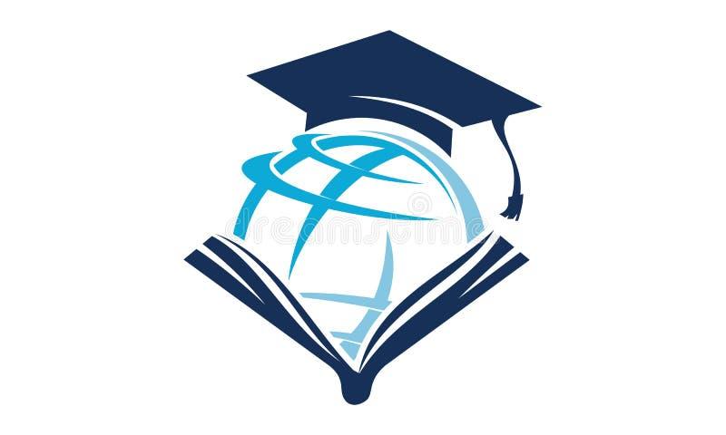 Educación Logo Design Template del mundo ilustración del vector