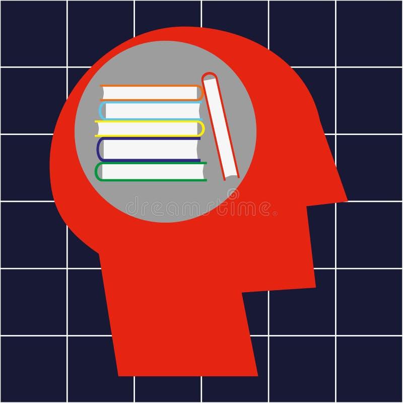 Educación por los libros ilustración del vector